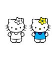 hello kitty printed on poster vector image vector image
