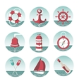 icons on the marine theme vector image vector image