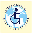 international day persons with disabilities vector image vector image