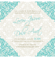 invitation blue damask vector image vector image