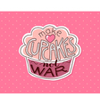 make cupcakes not war vector image vector image