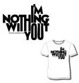 men t shirt print vector image vector image