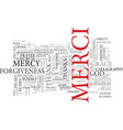 merci word cloud concept vector image vector image