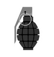 military grenade black army explosives soldiery vector image
