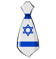 necktie in national colours of Israel vector image