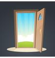 Open Door vector image vector image