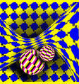 optical 3d art rotation dynamic vector image