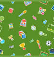 school green seamless pattern vector image vector image