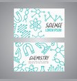 science chemistry cards set research outline vector image