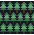 seamless pattern with green fir-tree vector image vector image