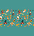 seamless pattern with women in swimsuit vector image vector image