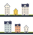 set city house building modern building vector image vector image