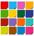 set of 16 blank squares vector image