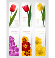 set of banners with colorful flowers vector image vector image