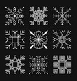 set square snowflake flat icon vector image