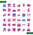 shopping and ecommerce flat icons set vector image vector image