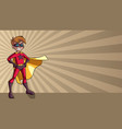 super boy ray light background vector image vector image