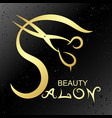 symbol for beauty salon gold vector image vector image