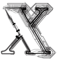 Technical typography Letter x vector image vector image