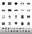 The useful collection icons on white background