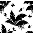 tile pattern plant and butterfly vector image