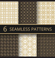 trendy gold geometric seamless patterns vector image vector image