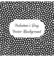 Valentines Day black and white Hearts Pattern vector image