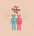 valentines day connecting hearts hand by hand vector image vector image