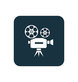 video icon Rounded squares button vector image vector image