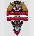 wild west bandit mascot vector image vector image
