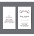 Business card template real estate apartment vector image
