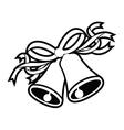 wedding bells black vector image