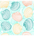 hand drawn seamless shell background vector image