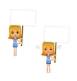 set of funny cartoon housewife vector image