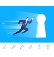 success Businessman go to vector image