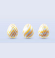 3d easter eggs vector image vector image