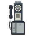 50s street phone telephone apparatus call for vector image vector image