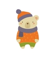 White Bear In Polka-dotted Sweater Childish