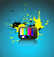 abstract art of TV vector image vector image