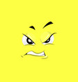 annoyed face vector image