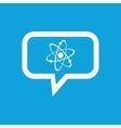 Atom message icon vector image vector image