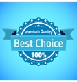 Best choice premium quality badge vector image