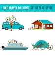 Bicycle travel and leisure vector image vector image