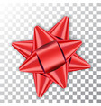 bow ribbon red christmas vector image vector image