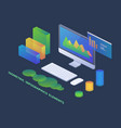 business infographics isometric concept 3d vector image