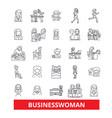 Business woman entepreneur person worker vector image