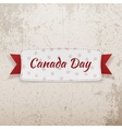 Canada Day Holiday Tag with Text and Ribbon vector image vector image