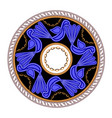 circle ornament with vintage antique bird symbol vector image vector image