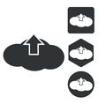 Cloud upload icon set monochrome vector image vector image