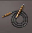 coiled hookah hose vector image vector image